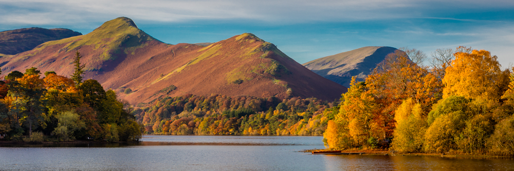 Autumn colours on Derwentwater and Catbells