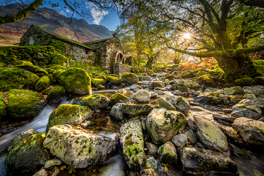 The Old Mill in Borrowdale in Autum light