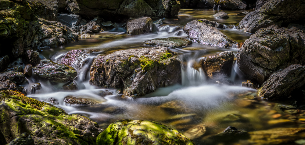 The Gentle Water of the Ladore falls Long Exposure