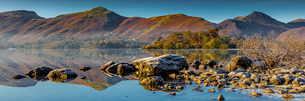 Winter Sunrise at Calfclose Bay and Catbells