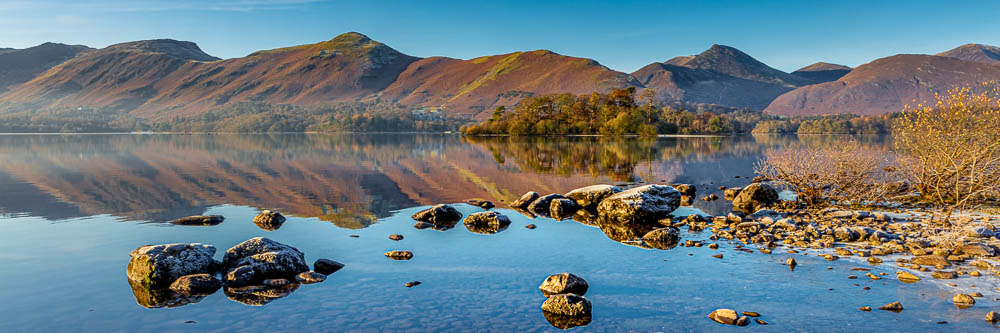 Winter Sunrise at Calfclose Bay, Catbells and Causy Pike