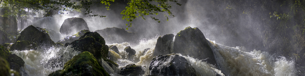 Lodore falls after a summer storm