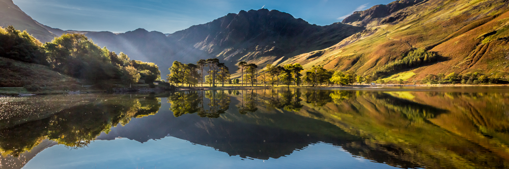 Morning light over Buttermere and Haystacks reflected